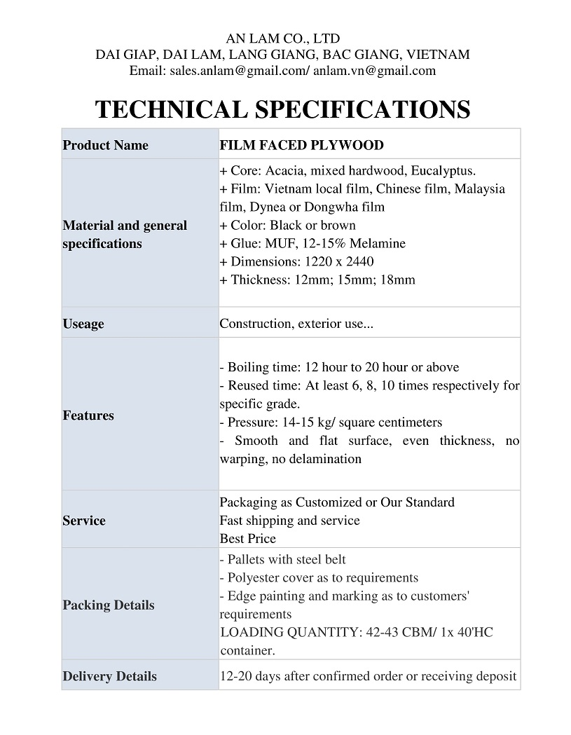 ffp specifications